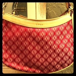 Xoxo red shoulder bag EUC